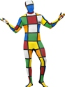 Adult Rubik's Cube Second Skin Costume Thumbnail