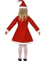 Child Santa Girl Costume  - Side View - Thumbnail