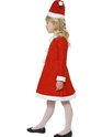 Child Santa Girl Costume  - Back View - Thumbnail