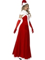 Adult Santa Long Skirt Costume  - Back View - Thumbnail
