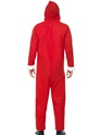 Adult Santa Onesie Costume  - Side View - Thumbnail