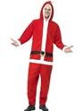 Adult Santa Onesie Costume Thumbnail