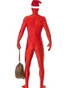 Adult Santa Second Skin Suit Costume  - Side View - Thumbnail