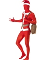 Adult Santa Second Skin Suit Costume  - Back View - Thumbnail