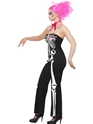 Adult Sassy Skeleton Costume  - Back View - Thumbnail