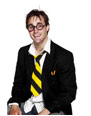 School Tie On Elastic Yellow And Black
