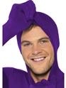 Adult Purple Second Skin Suit Costume  - Back View - Thumbnail