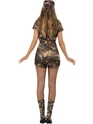 Adult Sexy Army Girl Costume  - Side View - Thumbnail