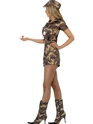 Adult Sexy Army Girl Costume  - Back View - Thumbnail