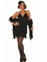 Adult Sexy Black Flapper Costume  - Back View - Thumbnail