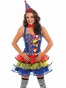 Adult Sexy Clown Costume  - Back View - Thumbnail