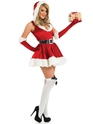 Adult Sexy Lady Santa Costume  - Back View - Thumbnail