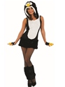 Adult Sexy Penguin Costume  - Back View - Thumbnail