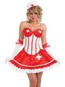 Adult Sexy Tutu Nurse Costume  - Back View - Thumbnail