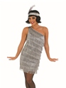 Adult Silver Flapper Dress Costume Thumbnail