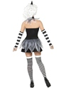 Adult Sinister Pierrot Costume  - Back View - Thumbnail