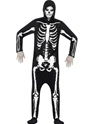 Adult Skeleton Onesie Costume Thumbnail