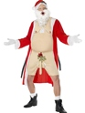 Adult Sleazy Santa Costume  - Back View - Thumbnail