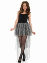 Burlesque Snow Leopard Tutu  - Back View - Thumbnail