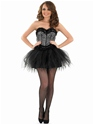 Adult Burlesque Snow Leopard Tutu Costume  - Back View - Thumbnail