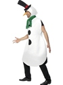 Adult Snowman Costume  - Back View - Thumbnail