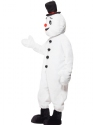 Adult Snowman Mascot Costume  - Back View - Thumbnail