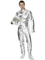 Adult Spaceman Costume Silver  - Back View - Thumbnail