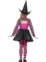Child Stripe Dark Witch Costume  - Side View - Thumbnail