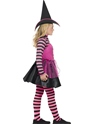 Child Stripe Dark Witch Costume  - Back View - Thumbnail