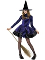Teen Stripe Dark Fairy Witch Costume Thumbnail