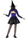 Teen Stripe Dark Fairy Witch Costume  - Back View - Thumbnail