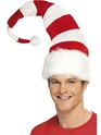 Striped Santa Hat  - Back View - Thumbnail
