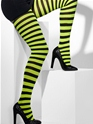 Striped Tights Green And Black  - Back View - Thumbnail