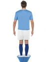 Adult Subbuteo Blue Strip Costume  - Side View - Thumbnail