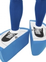 Adult Subbuteo Blue Strip Costume  - Back View - Thumbnail