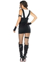 Adult Sultry SWAT Police Officer Costume  - Back View - Thumbnail