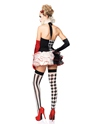 Adult Sweetheart Harlequin Costume  - Back View - Thumbnail