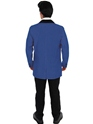 Adult Blue Teddy Boy Costume  - Side View - Thumbnail
