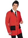 Adult Red Teddy Boy Costume  - Back View - Thumbnail
