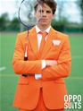 Adult Orange Oppo Suit  - Back View - Thumbnail