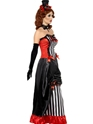 Adult Theatre Macabre Madame Vamp Costume  - Back View - Thumbnail