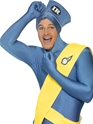 Adult Thunderbirds Second Skin Costume  - Side View - Thumbnail