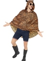 Tiger Party Poncho Festival Costume  - Back View - Thumbnail