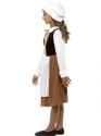 Child Tudor Girl Costume  - Back View - Thumbnail