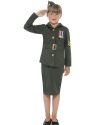 WW2 Army Girl Childrens Costume  - Back View - Thumbnail