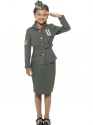 WW2 Army Girl Childrens Costume Thumbnail