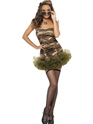 Adult Tutu Army Costume  - Side View - Thumbnail