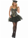 Adult Tutu Army Girl Costume  - Back View - Thumbnail