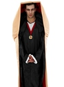 Adult Vampire in a Coffin Costume  - Back View - Thumbnail