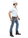 Adult Village People Construction Worker Costume  - Back View - Thumbnail